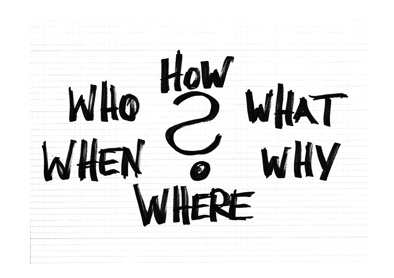 questions, who, what
