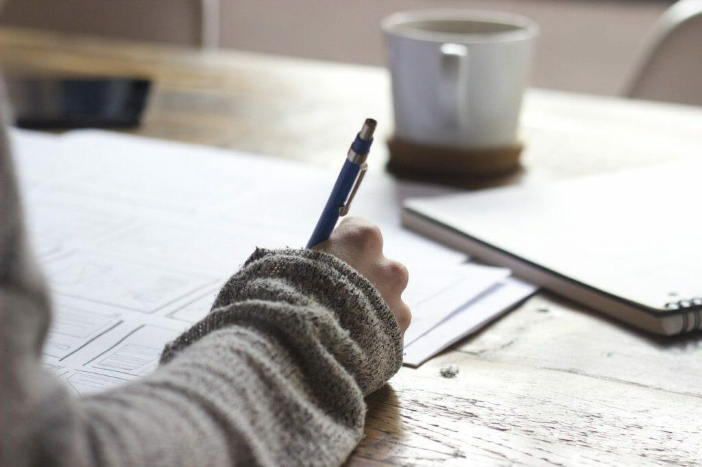 writing, write, person