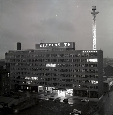 Granada towering over the Manchester skyline, 1968